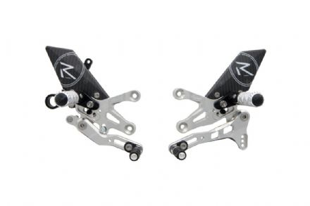 LighTech Aprilia Tuono V4 2011-2018 'R' Version Adjustable Rearsets Silver